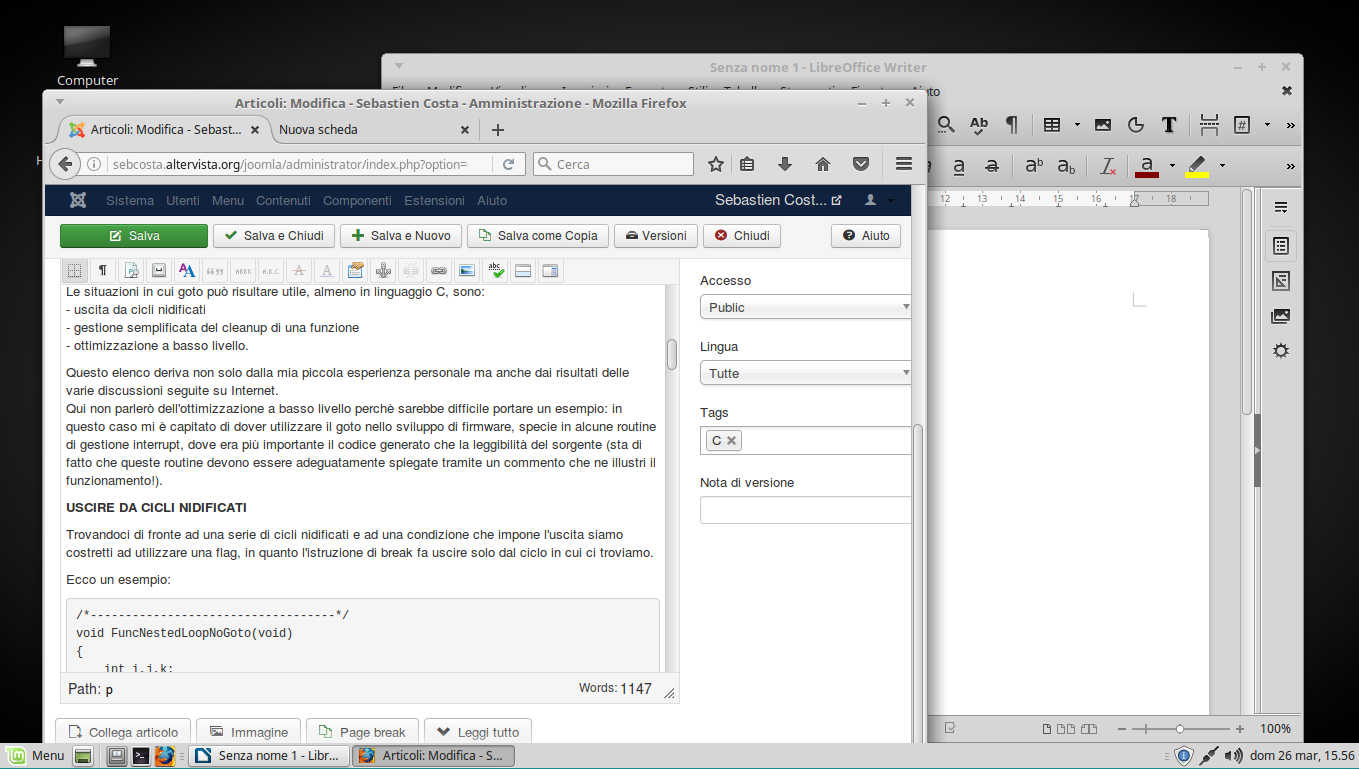 firefox libreoffice on mint